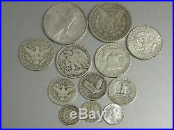 13 Coin Complete 20th Century Us 90% Silver Type Set+morgan+peace Dollars #50