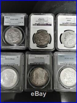 1878-1921 P, D, S, O, CC (plus variations) Complete Morgan Dollar set