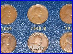 1909-1940 Lincoln Cent Collection Near Complete Set with 1909-s, 1914-d, 1931-s