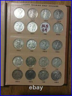 1916-1947 Complete Silver Walking Liberty Half Dollar Set With Some PCGS graded
