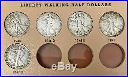 1916-1947 Complete Us Walking Liberty Half Dollar 65 Circ Coins Dansco Album Set