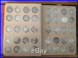 1916-1947 Complete Walking Liberty Half Dollar 65 Coin Set Dansco Album Wow