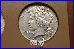 1921-1935 peace dollar set complete avaerage over set unc