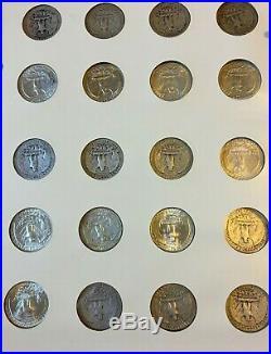 1932-1967 Washington Quarter Set Complete Littleton Album #1 86 Coins High Qual