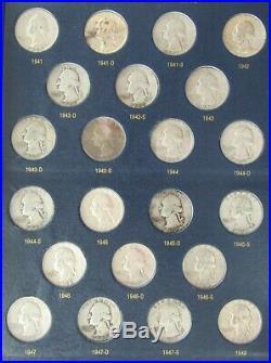 1932 1990 P/D/S Complete Set Of Washington Quarter In Classic Whitman Album