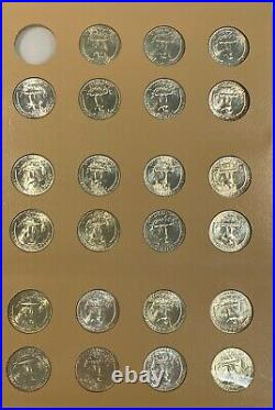 1932-1991 BU & Proof Washington Quarter Collection Nearly Complete 180 Coin Set