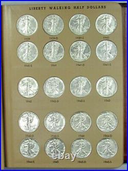 1934-47 Complete Walking Liberty Half Dollar Set BU/AU