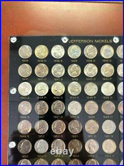 1938-1964 Bu Jefferson Nickel 71 Coin Complete Bu Nickel Set