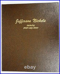 1938-2004 BU/Proof Complete Jefferson Nickel Set Lot Collection Dansco Album