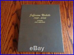 1938-2005 Pds Complete Jefferson Nickel Set 192 Coins In Dansco Album