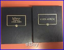 1938-2018-S BU & Proof Jefferson Nickel Set Complete Whitman Albums