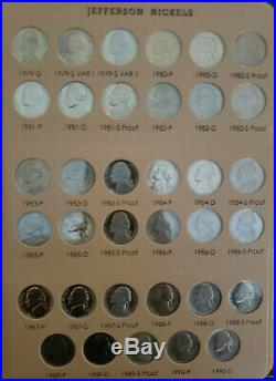 1938-2019 Complete Choice to GEM BU Jefferson Nickel Set + Proofs in two Albums