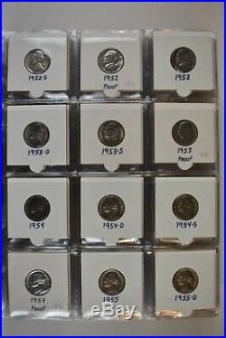 1938-2019 PDS Jefferson Nickels Complete Set. With all Proofs 1950-2019