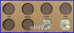 1941-1964 Complete Set of 61 Choice/Gem BU Washington Quarters with Dansco Album