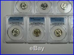 1942-1945 Complete PCGS MS66 11 Coin Set Jefferson Silver War Nickels PDS Lot BU