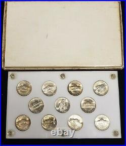 1942-1945 Jefferson Silver Wartime Nickel BU Complete Set Toning SKU-X1784