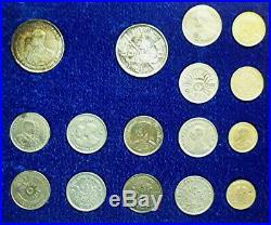 1944-1963 THAILAND COMPLETE OFFICIAL ROYAL THAI MINT SET (32) w 4 SILVER -RARE
