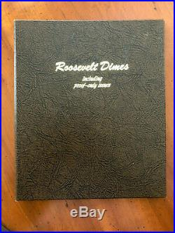 1946-1964-2019 Complete Roosevelt Dime 209 Pc Set Proofs BU with New Dansco 8125