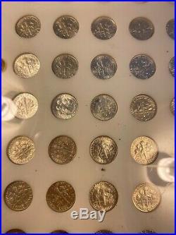 1946 1964 Complete Roosevelt Dime Set Nice Coins In Capitol Holder