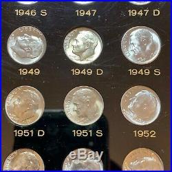 1946 1964 P, D, S Complete Bu Set Of Roosevelt Dimes In Capitol Plastic Holder