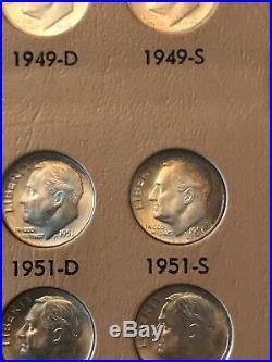 1946-2019 COMPLETE PLEASE READ Roosevelt Dime Set BU Clad, Silver & Gold Dansco