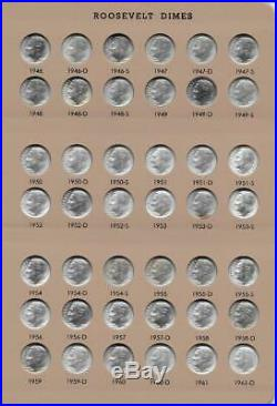 1946 2019 Complete Roosevelt Dime Set All Bu Clad And Silver Proof