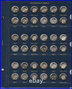 1946-2020 PDS Roosevelt Complete UNC BU Gem Proof Silver Clad Set