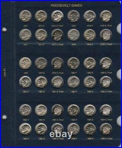 1946-2021 PDS Roosevelt Complete UNC BU Gem Proof Silver Clad Set