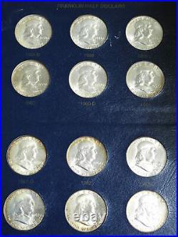 1948-1963 50C Franklin Silver Half Dollar COMPLETE SET OF 35 MOSTLY BRILLIANT