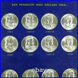 1948-1963 Complete 35-Coin BU Uncirculated Franklin Half Dollar Set in Whitman