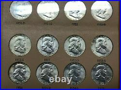 1948-1963 Complete Franklin Half Dollar Set 35 Coins Uncirculated DANSCO album