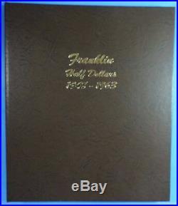 1948-1963 Complete Set of BU Franklin Half Dollars Dansco Album 7165