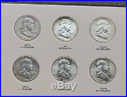 1948 1963 Franklin Half Dollar Complete Collection (35) Coin Set AU/BU BU