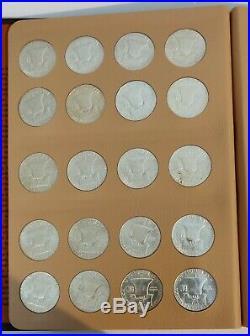 1948-1963 Franklin Half Dollar Complete Set (BU Set 35 Coins) In Dansco Album