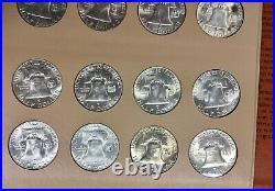 1948-1963 Franklin Half Dollars Choice BU Complete Set of 35 Dansco Album