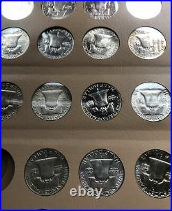 1948 1963 Franklin Half Dollars Complete Set- Mixed BU/AU/EF Coins