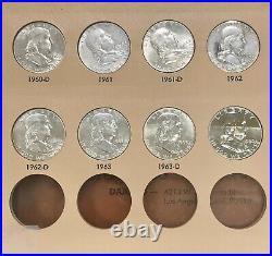 1948-1963 Silver Franklin Half Dollar Complete 35 +1 Coin Set XF/UNC Set Dansco