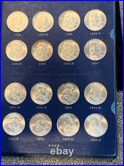 1948-63 Complete Franklin Half Dollar Set-ORIGINAL CHOICE BU -WHITMAN ALBUM
