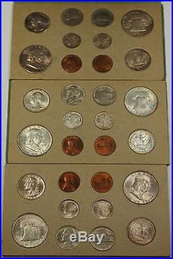 1953 U. S. Complete Original Double Mint Set 30 Coins 18 Silver Very Scarce