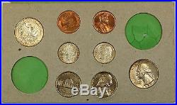 1955 U. S. Complete Original Naturally Toned Double Mint Set 22 Coins 12 Silver