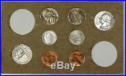 1956 U. S. Complete Original Naturally Toned Double Mint Set 18 Coins 10 Silver