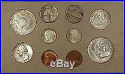 1958 P&D U. S. Naturally Toned Complete Double Mint Set 12 Silver Coins 20 Total