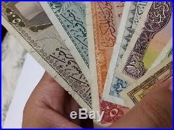 1958 Syr Pounds Banknote Lot Of 7 Piec complete Set Original Rare Livre Money
