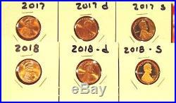 1959 2018 P/D/S S Proof Lincoln Cent & Shield Cent 185 Coins, Complete Set