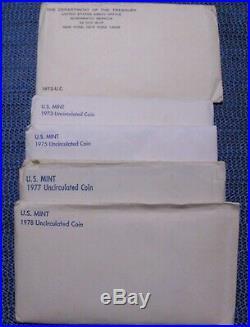 1961 through 2007 U. S. Mint P & D UNC Sets (not complete total of 34 sets)