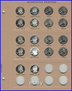 1964-1965-1998 Washington Quarter 105 Pc SetComplete UNC & ProofsDansco 8140