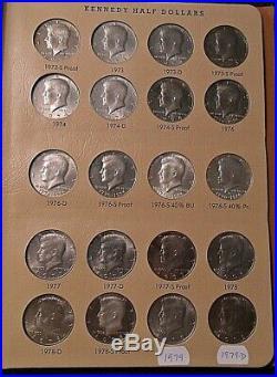 1964-1979 Kennedy Half Dollars- Complete set in Dansco album. All are BU & Proof