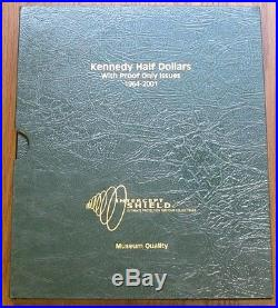 1964-2001 Complete Album Kennedy Half Dollar Coin Set P-d-s Clad & Silver Proofs