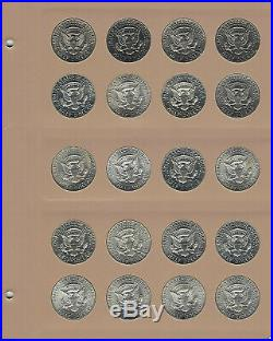 1964-2011 Kennedy Half Dollar Complete 138 Pc Set P/D/S With New Dansco 8166