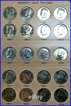 1964-2015-P/D Complete Kennedy Half Dollar Set 96 Coins bce